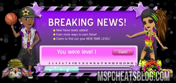 New Fame Levels Added to Moviestarplanet