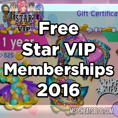 Free Moviestarplanet Star VIP Memberships 2016